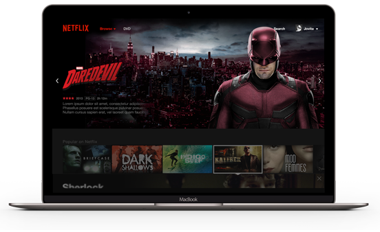 Netflix website on a personal computer