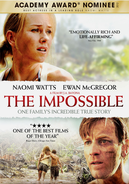 Rent The Impossible (2012) on DVD and Blu-ray - DVD Netflix